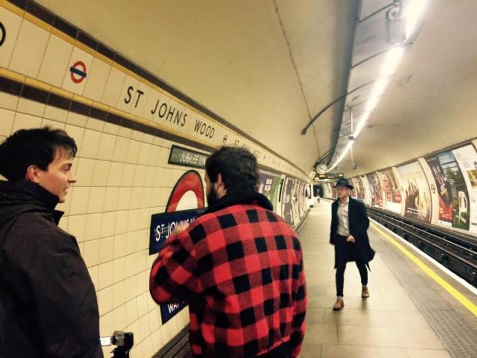 Shooting the trailer in St Johns Wood